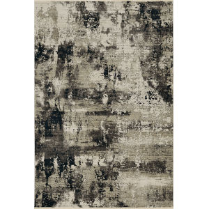 Karina Ivory Charcoal Moda Rectangle: 5 Ft. 3 In. x 7 Ft. 7 In. Area Rug