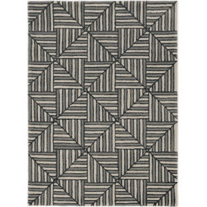 Libby Langdon Upton Navy and Charcoal Rectangular: 5 Ft. x 7 Ft. Rug
