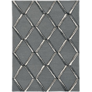 Libby Langdon Upton Charcoal and Silver Runner: 2 Ft. 3 In. x 8 Ft. Rug