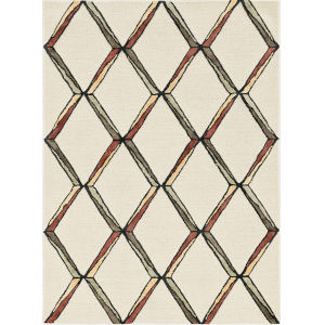 Libby Langdon Upton Cream and Gold Rectangular: 5 Ft. x 7 Ft. Rug