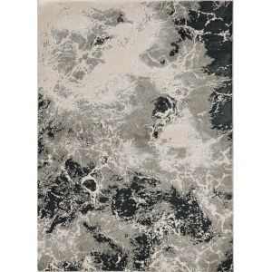 Luna Nightscape Silver Rectangular: 5 Ft. 3 In. x 7 Ft. 7 In. Area Rug