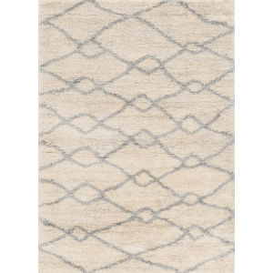 Merino London Ivory and Gray Rectangular: 5 Ft. 3 In. x 7 Ft. 7 In. Area Rug