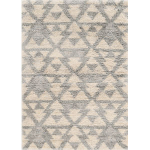 Merino Southern Ivory and Gray Rectangular: 5 Ft. 3 In. x 7 Ft. 7 In. Area Rug