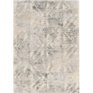 Merino Vintage Ivory and Gray Rectangular: 3 Ft. 9 In. x 5 Ft. 11 In. Area Rug