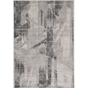 Montreal Visions Gray Round: 7 Ft. 7 In. Area Rug