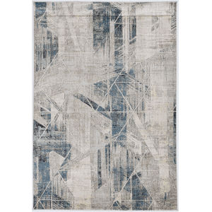Montreal Twilight Gray and Blue Round: 7 Ft. 7 In. Area Rug