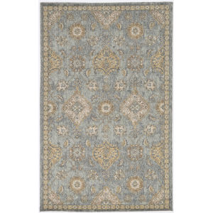 Ria Sofia Sage Green Rectangular: 5 Ft. 3 In. x 7 Ft. 7 In. Area Rug