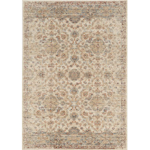 Seville Valencia Ivory Rectangular: 7 Ft. 7 In. x 10 Ft. 10 In. Area Rug