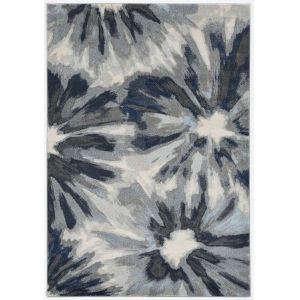Stella Splash Ivory Blue Rectangular: 7 Ft. 10 In. x 10 Ft. 10 In. Area Rug