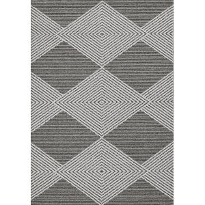 Terrace Gray and Ivory Rectangular: 6 Ft. 7 In. x 9 Ft. 4 In. Rug