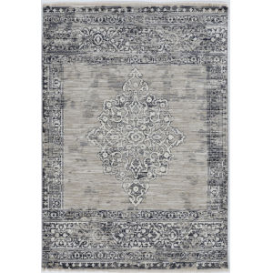 Westerly Ria Sand and Charcoal Round: 6 Ft. 7 In. Area Rug
