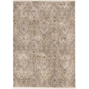 Westerly Elegance Sand and Gray Rectangular: 5 Ft. 3 In. x 7 Ft. 7 In. Area Rug