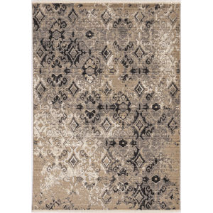 Westerly Illusions Ivory and Beige Rectangular: 8 Ft. x 10 Ft. Area Rug