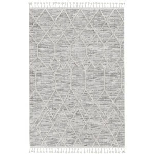 Willow Ivory Gray Rectangular: 3 Ft. 3 In. x 4 Ft. 11 In. Rug