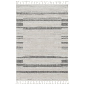 Willow Ivory Gray Rectangular: 5 Ft. 3 In. x 7 Ft. 7 In. Rug