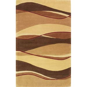 Eternity Earthtone Landscapes Rectangle: 8 Ft. x 10 Ft. 6 In. Rug