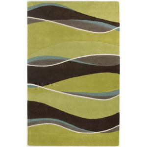 Eternity Lime/Mocha Landscapes Rectangular: 8 ft. x 10 ft. 6 in. Rug