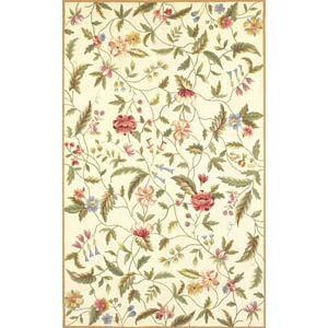 Colonial Ivory Springtime Views Rectangle: 5 Ft. 3 In. x 8 Ft. 3 In. Rug