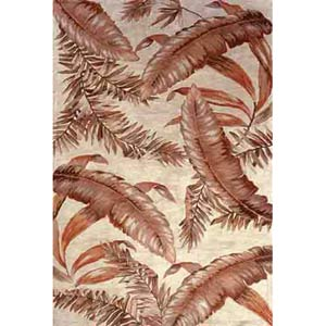 Sparta Ivory Ferns Rectangle: 5 Ft. 3 In. x 8 Ft. 3 In. Rug