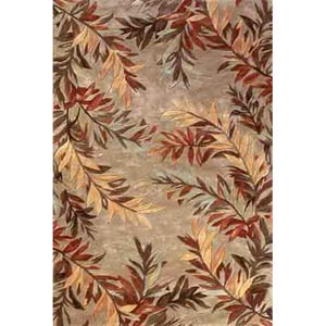 Sparta Sage Tropical Branches Rectangle: 5 Ft. 3 In. x 8 Ft. 3 In. Rug