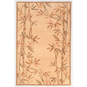 Sparta Ivory Bamboo Border Rectangle: 5 Ft. 3 In. x 8 Ft. 3 In. Rug