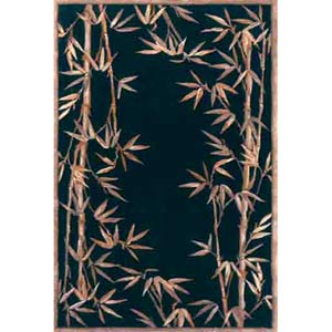 Sparta Black Bamboo Border Rectangle: 5 Ft. 3 In. x 8 Ft. 3 In. Rug