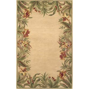 Sparta Ivory Rainforest Rectangle: 5 Ft. 3 In. x 8 Ft. 3 In. Rug