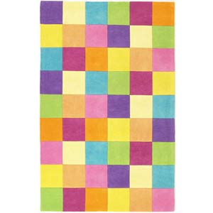 Kidding Around Girls' Color Blocks Rectangle: 5 Ft. x 7 Ft. 6 In. Rug