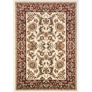 Cambridge Ivory/Red Kashan Rectangle: 7 Ft. 7 In. x 10 Ft. 10 In. Rug