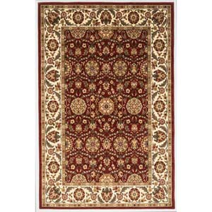 Cambridge Red/Ivory Floral Agra Rectangle: 5 Ft. 3 In. x 7 Ft. 7 In. Rug