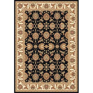 Cambridge Black/Ivory Kashan Rectangle: 7 Ft. 7 In. x 10 Ft. 10 In. Rug