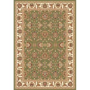 Cambridge Green/Ivory Kashan Rectangle: 7 Ft. 7 In. x 10 Ft. 10 In. Rug