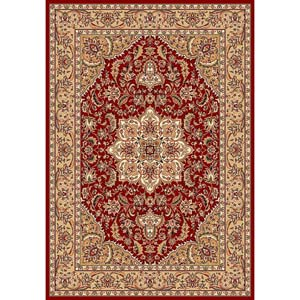 Cambridge Red/Beige Kashan Medallion Rectangle: 7 Ft. 7 In. x 10 Ft. 10 In. Rug
