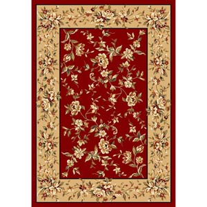 Cambridge Red/Beige Floral Delight Rectangle: 7 Ft. 7 In. x 10 Ft. 10 In. Rug