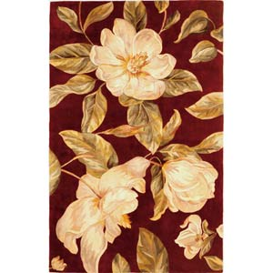 Catalina Ruby Magnolia Rectangle: 5 Ft. x 8 Ft. Rug