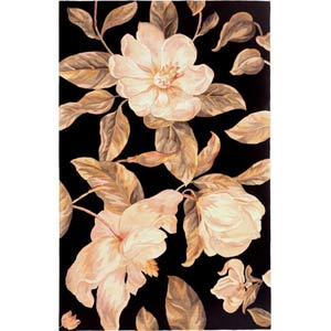 Catalina Black Magnolia Rectangle: 5 Ft. x 8 Ft. Rug