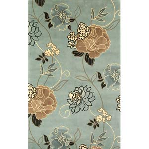 Catalina Blue/Beige Paradise Rectangle: 5 Ft. x 8 Ft. Rug