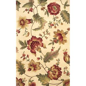 Catalina Ivory Mums Rectangle: 5 Ft. x 8 Ft. Rug