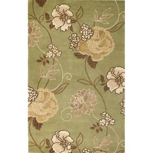 Catalina Sage/Gold Paradise Rectangular: 5 ft. x 8 ft. Rug