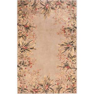 Emerald Sage Tropical Border  Rectangle: 5 Ft. 3 In. x 8 Ft. 3 In. Rug