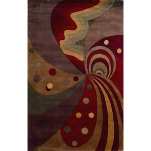 Signature Jeweltone Painters Dream Rectangle: 5 Ft. 3 In. x 8 Ft. 3 In. Rug