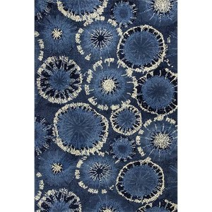 Allure Blue Starburst Runner: 2 Ft. 3 In. x 7 Ft. 6 In. Rug