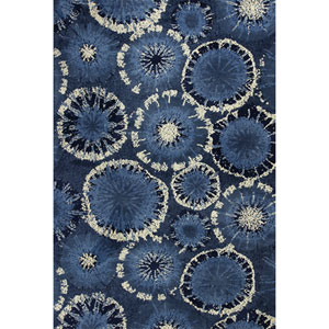 Allure Blue Starburst Rectangular: 5 Ft. x 7 Ft. Rug