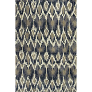 Allure Ivory and Grey Horizon Rectangular: 6 Ft. 7 In. x 9 Ft. 6 In. Rug