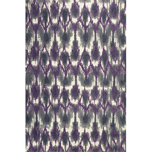 Allure Grey and Purple Horizon Runner: 2 Ft. 3 In. x 7 Ft. 6 In. Rug