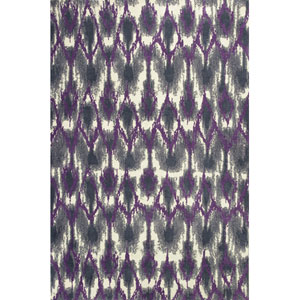 Allure Grey and Purple Horizon Rectangular: 7 Ft. 7 In. x 10 Ft. 10 In. Rug