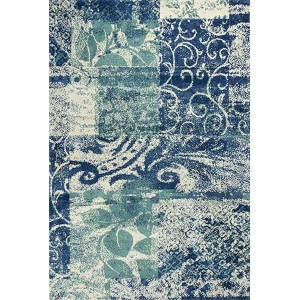 Allure Blue and Green Artisan Runner: 2 Ft. 3 In. x 7 Ft. 6 In. Rug