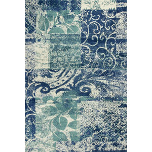 Allure Blue and Green Artisan Rectangular: 5 Ft. x 7 Ft. Rug