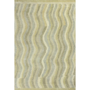 Amore Slate Waves Rectangular: 5 Ft. x 7 Ft. 6 In. Rug
