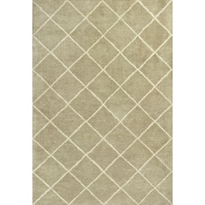 Amore Pale Green Views Rectangular: 5 Ft. x 7 Ft. 6 In. Rug